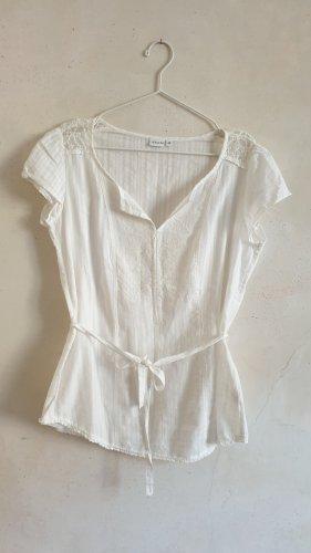 Sure Blusa senza maniche bianco Cotone
