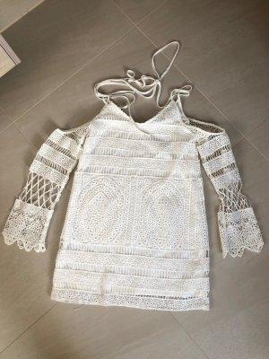 weißes Boho Kleid, Gr. 36