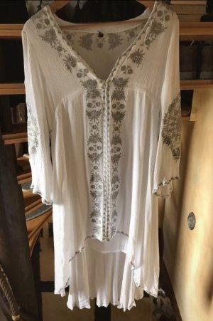 Vestido Hippie blanco-gris claro