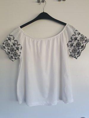 weißes Carmenshirt / schulterfreies Shirt