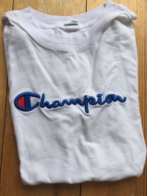 Champion Basic Shirt white-cornflower blue