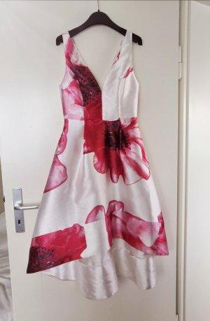 Vestito vokuhila bianco-rosso