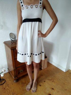 Weißes cream Kleid Schleife spitze