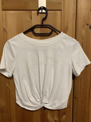 SheIn Cropped Shirt white