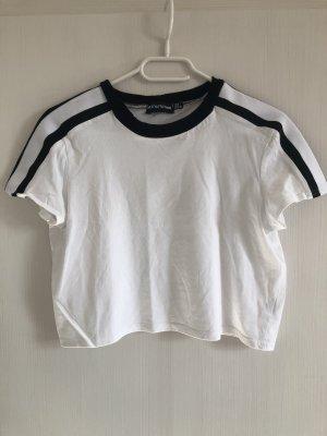 Weißes Crop T-Shirt