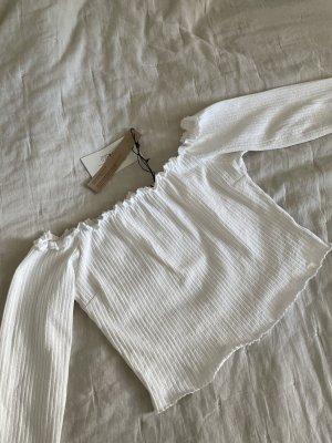 Nakd Ribbed Shirt white