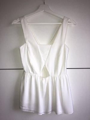 weißes Cut-Out Top