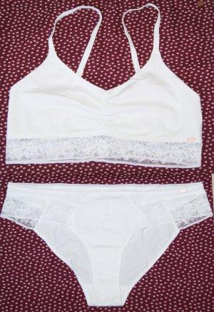sknb by skiny bodywear Lingerie Set white cotton