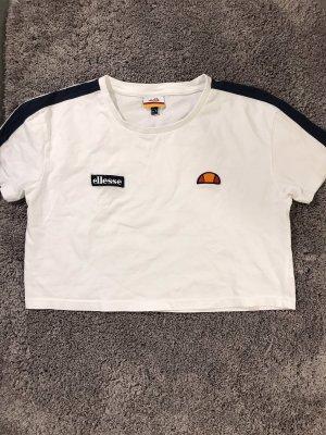 Weißes Ellesse Crop Top T-Shirt