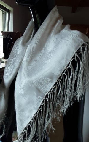 Traditional Scarf natural white silk
