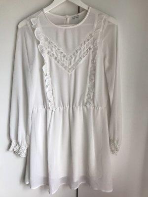 Weißes Gina Tricot Kleid mit Spitze