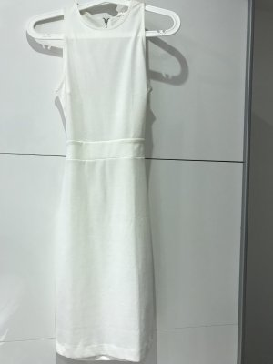 H&M Vestido cut out blanco