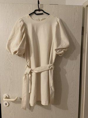 H&M Sukienka z krótkim rękawem w kolorze białej wełny-kremowy
