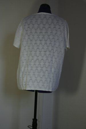 Gehaakt shirt wit Gemengd weefsel