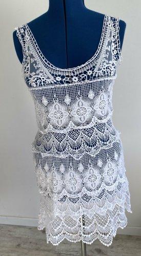 Jeff Gallano Lace Dress white
