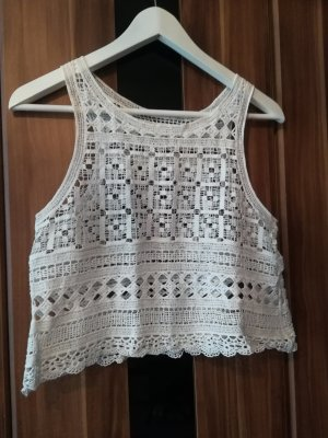Hallhuber Crochet Shirt white cotton