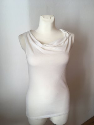 Cowl-Neck Top white viscose