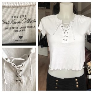 Hollister Cropped Top white
