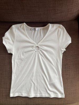 Weißes Hollister T-Shirt Gr. S