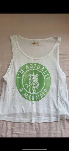 Hollister T-shirt court blanc-vert