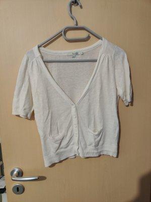 Boden Short Sleeve Knitted Jacket white