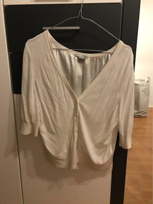 H&M Knitted Bolero white-natural white
