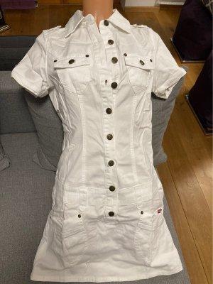 Weißes Jeans Mini Kleid von Buffalo