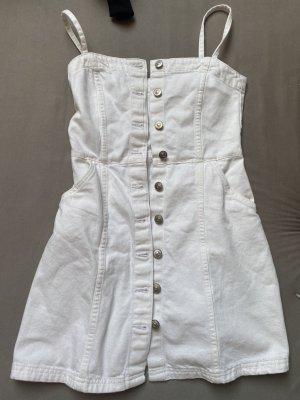 Weißes Jeanskleid