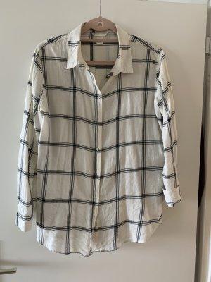 H&M Koszula w kratę biały-czarny