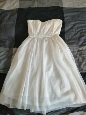 Only Vestido strapless blanco