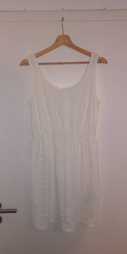 Amisu Vestido de tela de jersey blanco