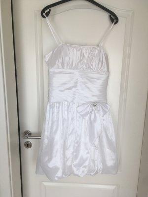 Anny Lee Sukienka z rękawem balonowym biały