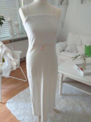 Maxi abito bianco-rosso mattone Cotone