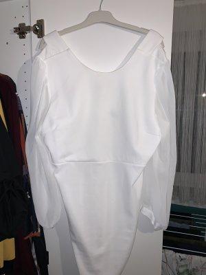 asos curve Balloon Dress white