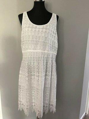Weißes Kleid mit Spitze Gina, Gr. 44