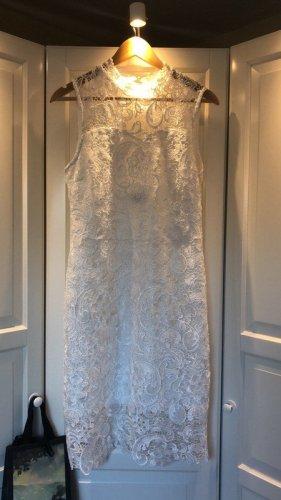 Weißes Kleid mit Spitze, Gr. 42