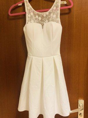 Weißes Kleid mit spitzen gr 32