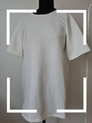 Weißes Kleid mit Steppung, Monki, Gr. M