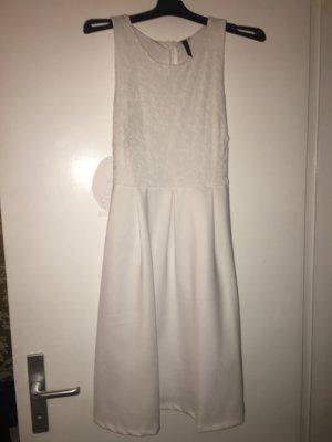 weißes kleid spitze kurz mini