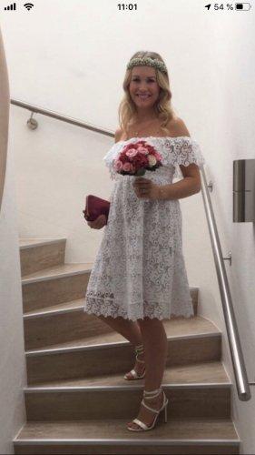 H&M Koronkowa sukienka biały