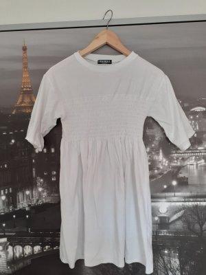 Weißes Kleid Tshirtkleid Fashionkilla Größe S weiß Sommerkleid