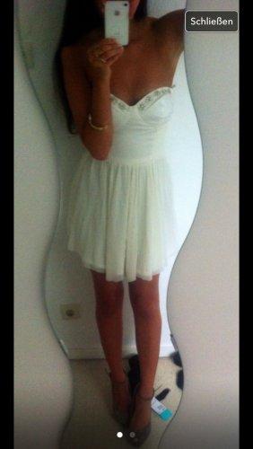 Asos Vestido bustier crema-blanco