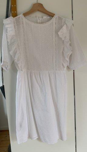 Weißes, kurzes, romantisches Kleid