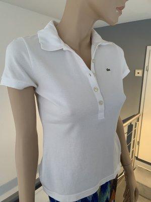 Weißes Lacoste Poloshirt, Gr. 38 (franz. Originalgröße 40)