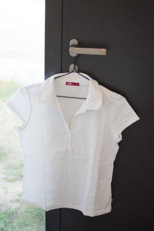 Weißes lässiges Poloshirt