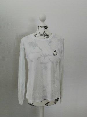 Weißes Langarm Shirt Pinguin Armedangels M