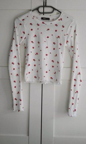 New Yorker Camicia lunga bianco-rosso mattone