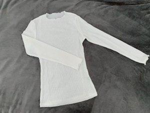 Weißes Langarmshirt - stretch - Sommershirt