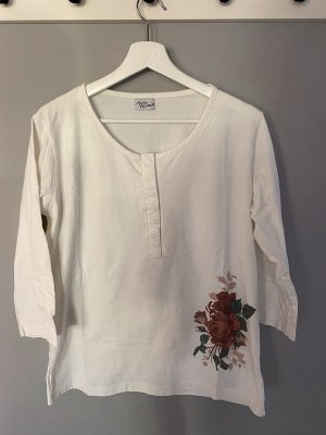 Atlas for women Koszulka z długim rękawem biały Bawełna