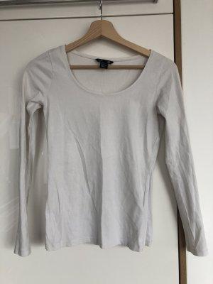 Weißes Langarmshirt von H&M